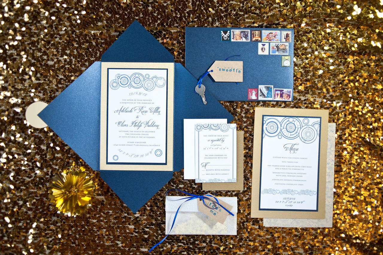 MIXING GEEK WITH CHIC DOCTOR WHO INSPIRED SHOOT – Doctor Who Party Invitations