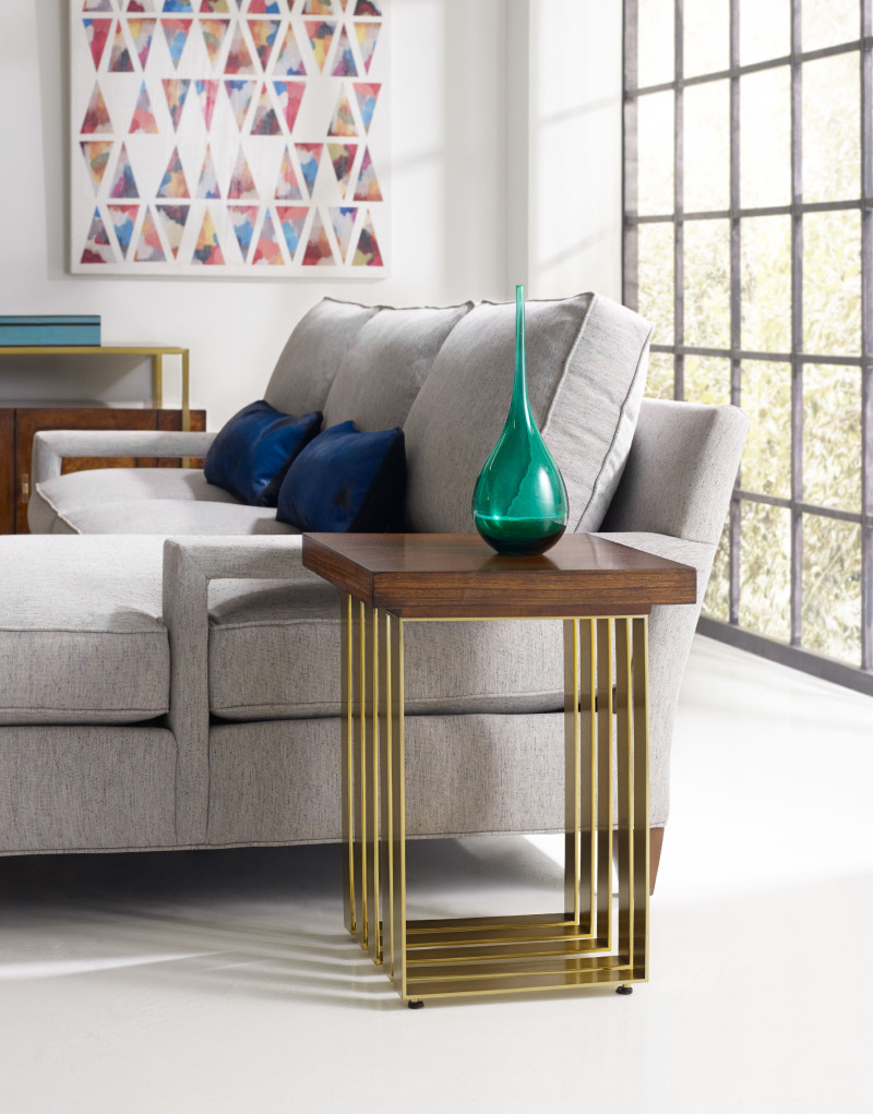 CYNTHIA ROWLEY FOR HOOKER FURNITURE HORIZON LINE SQUARE ACCENT TABLE