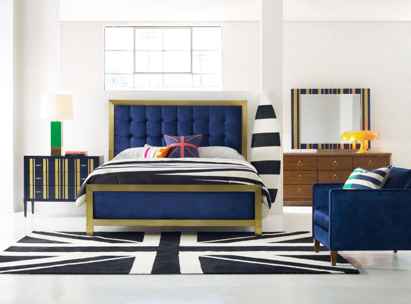 CYNTHIA ROWLEY FOR HOOKER FURNITURE BALTHAZAR KING UPHOLSTERED BED